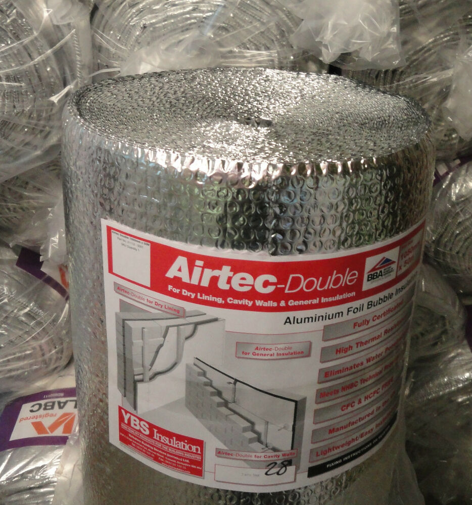Ybs Airtec Double Foil Reflective Bubble Insulation Large
