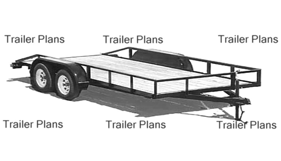 Sensational 1 Trailer Plans 8X18 Flatbed Tandem Utility Trailer Plans Largest Home Design Picture Inspirations Pitcheantrous