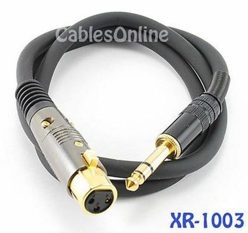 3 Ft Premium Xlr Female To 1 4inch Trs Male Audio Cable Ebay
