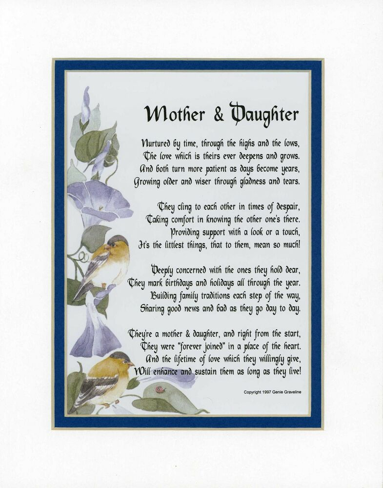 MOTHER & DAUGHTER, mother poem, poems for mothers, mom ...