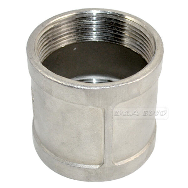Metal Pipe Coupling : Quot female to stainless steel threaded