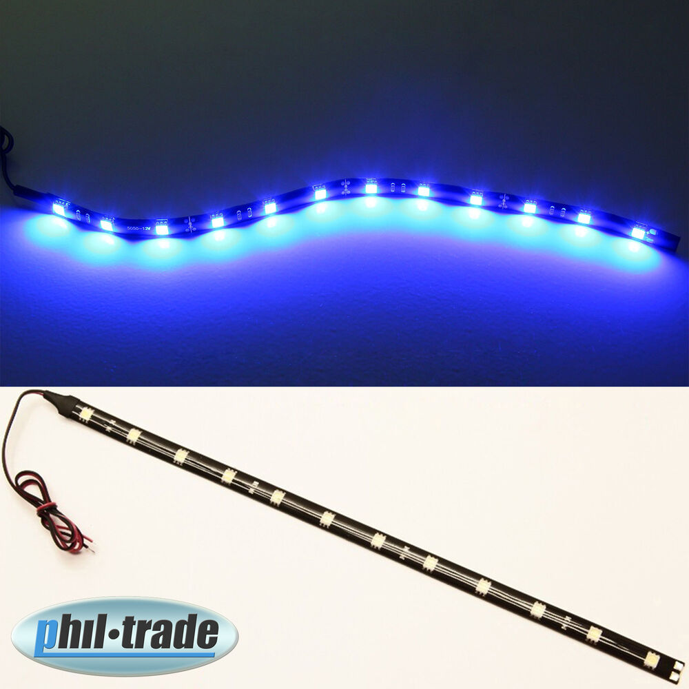 led strip leiste lichtleiste 12v plasma blau 30cm 12 x 5050 smd selbstklebend ebay. Black Bedroom Furniture Sets. Home Design Ideas