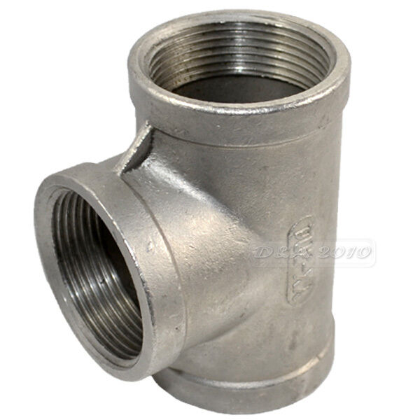 Tee quot way female stainless steel pipe