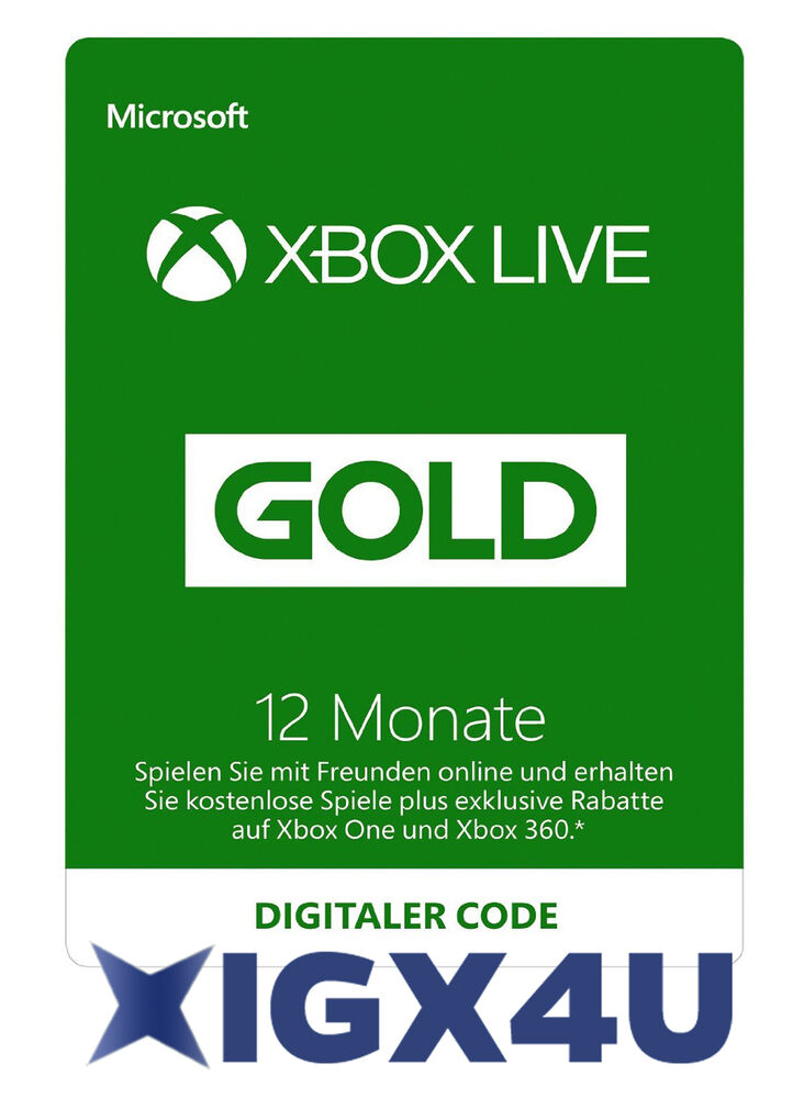 xbox one xbox 360 live gold mitgliedschaft 12 monate karte. Black Bedroom Furniture Sets. Home Design Ideas