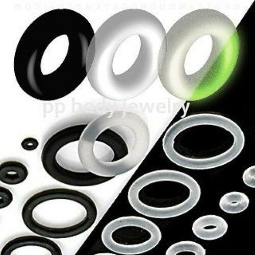 6pcs. Replacement Black, Clear, Glow In Dark, Rubber O-Rings (Choose Color/Size) | eBay