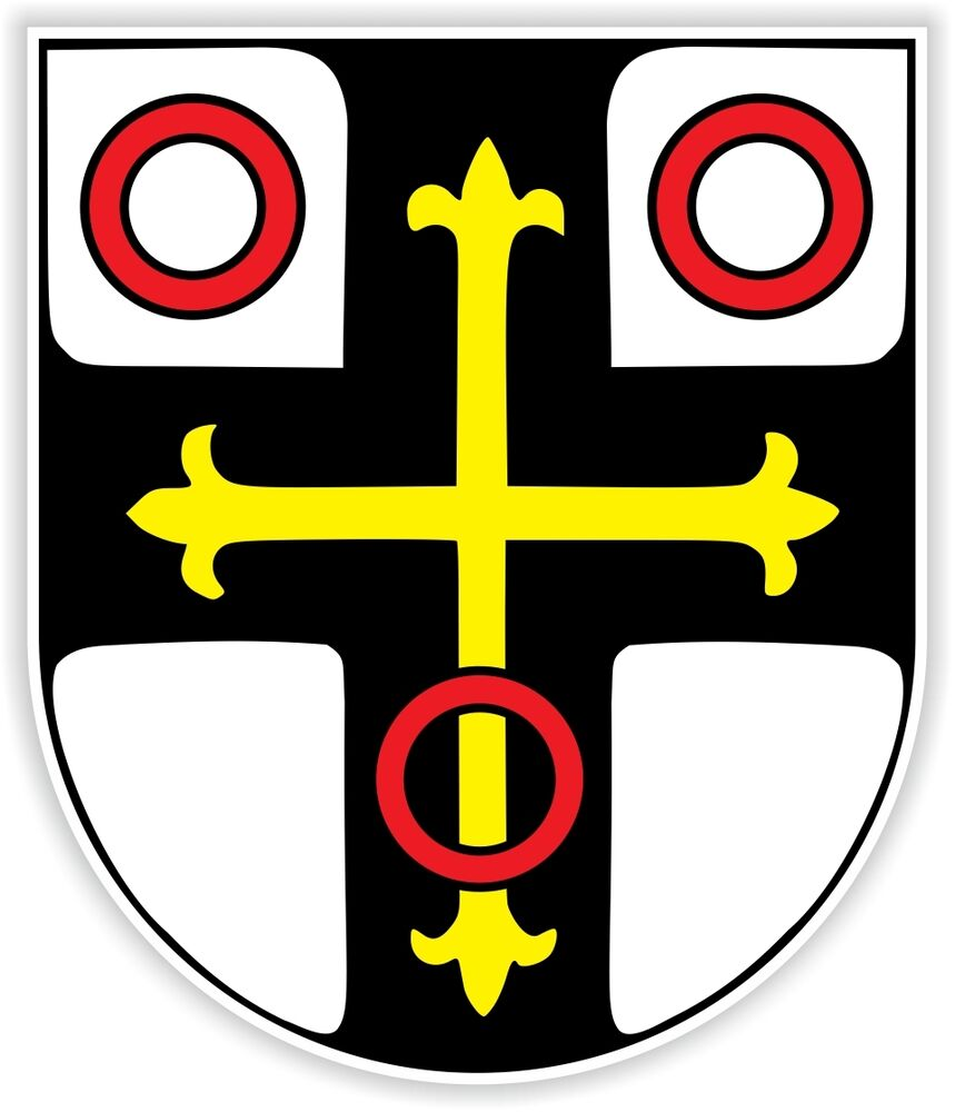 neckarsulm coat of arms sticker germany aufkleber auto. Black Bedroom Furniture Sets. Home Design Ideas