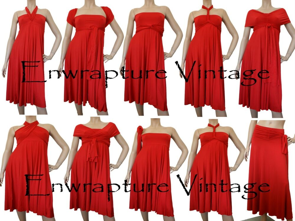 Hot Multi Wear Maxi Infinity Convertible Dress Red Twist