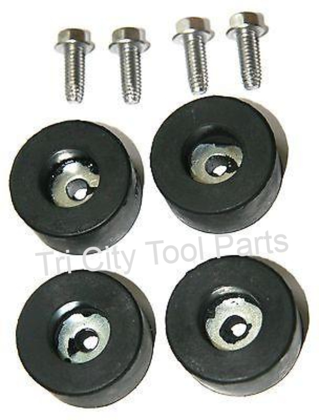 Air Compressor Rubber Feet Foot Mount Set Of 4 W