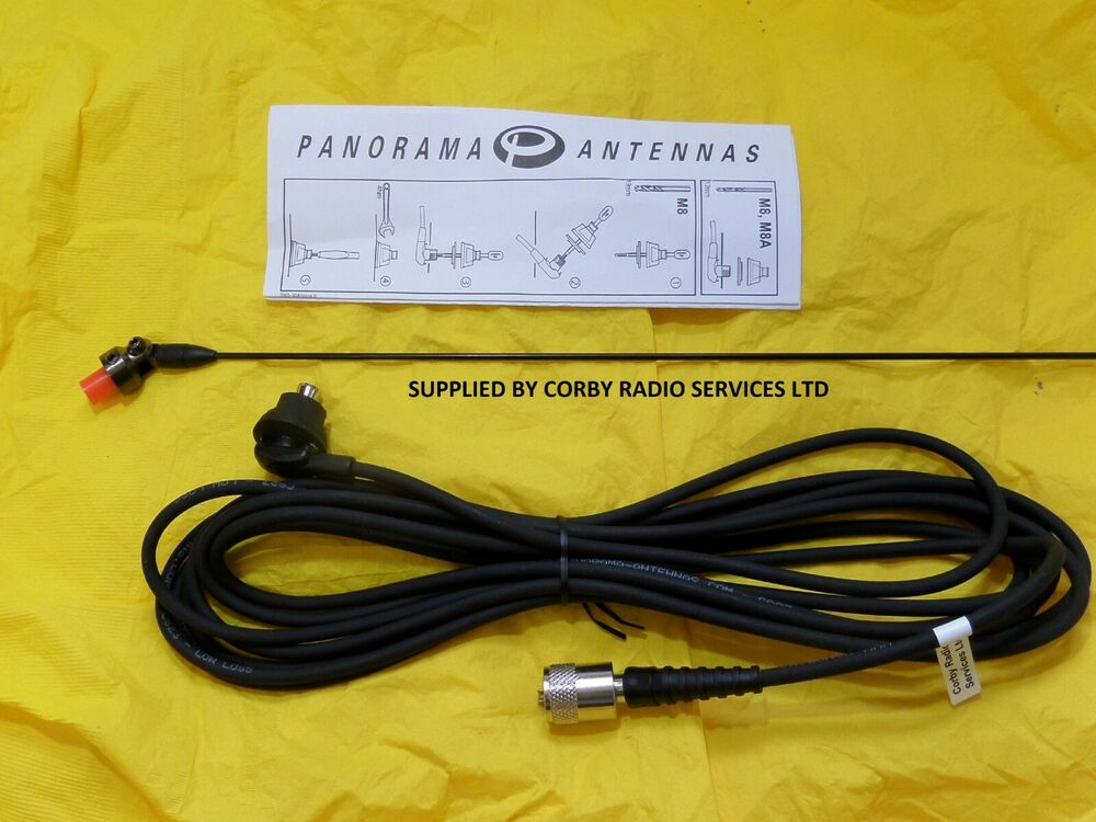 PANORAMA BODY MOUNT PL259 TAXI VHF ANTENNA 162 - 174MHZ COMPLETE ...