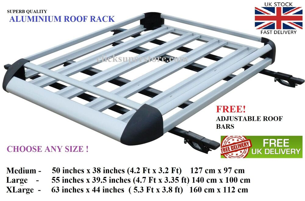 Aluminium Roof Tray Load Platform Rack Expedition Boxes