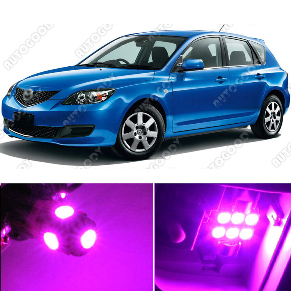 8 X Premium Hot Pink Led Lights Interior Package Kit For