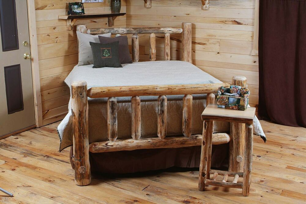 Rustic Log Bed Log Bedroom Furniture Rustic Decor Cabin Or Home