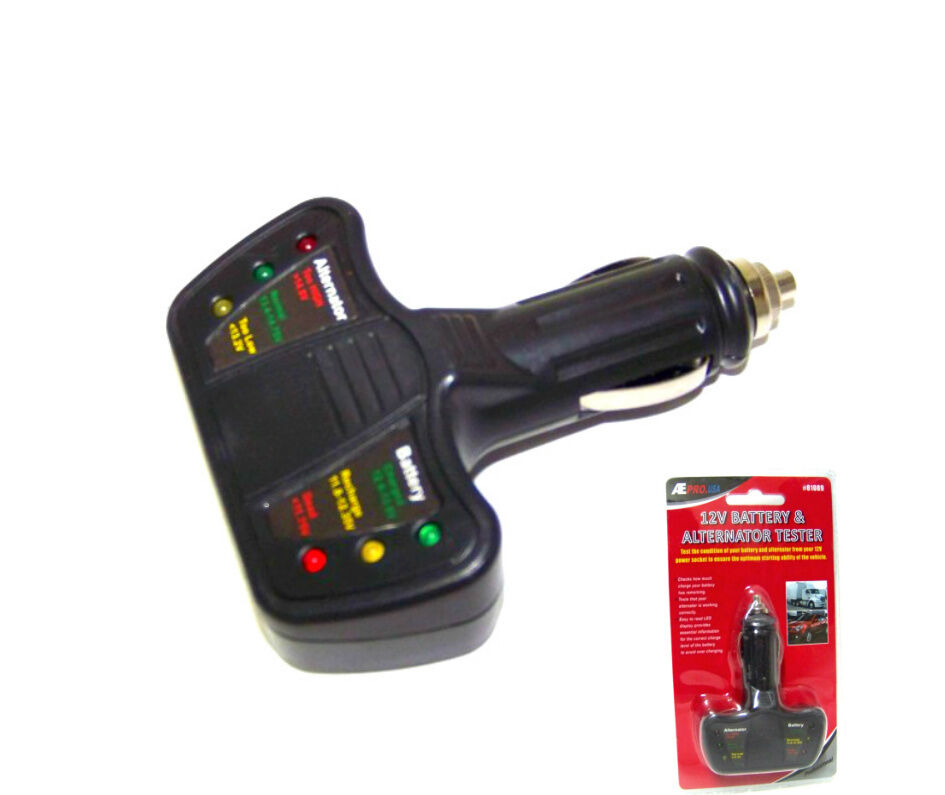 12 volt led battery and alternator tester for cars and. Black Bedroom Furniture Sets. Home Design Ideas