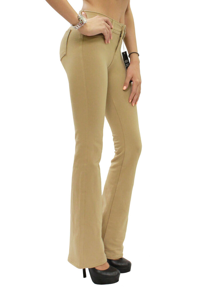 91c72265d6b89 New Womens Stretch Brazilian Moleton Bootcut Reg Leg Jeggings Pants S-XXL  BEV111 | eBay