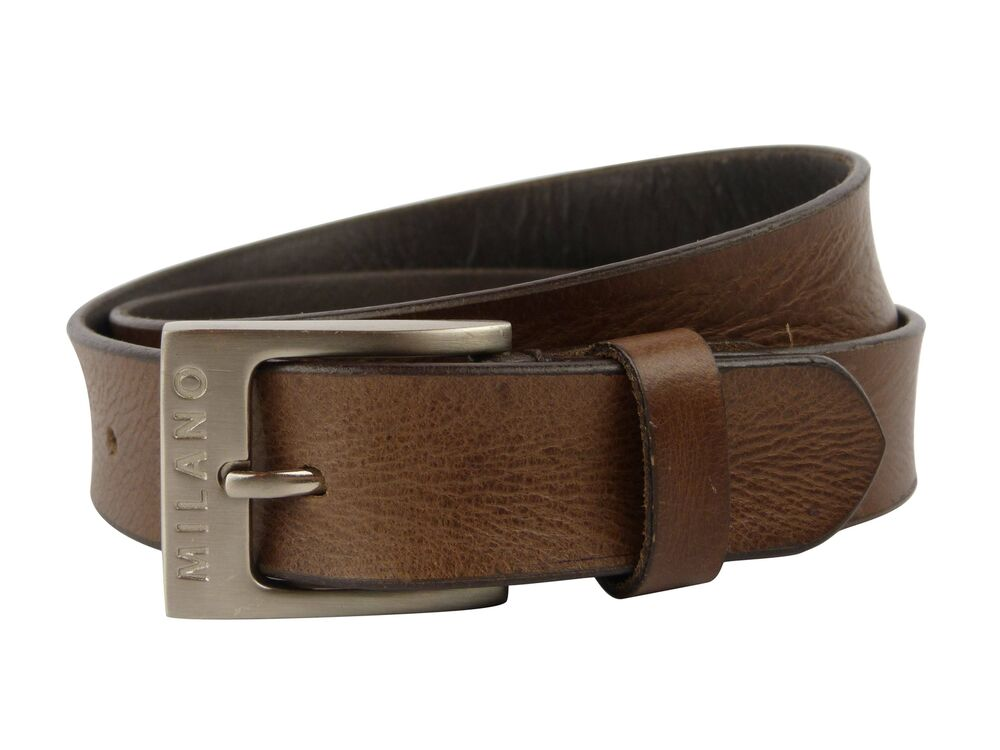 new quality mens brown real leather belt 1 25 quot wide all