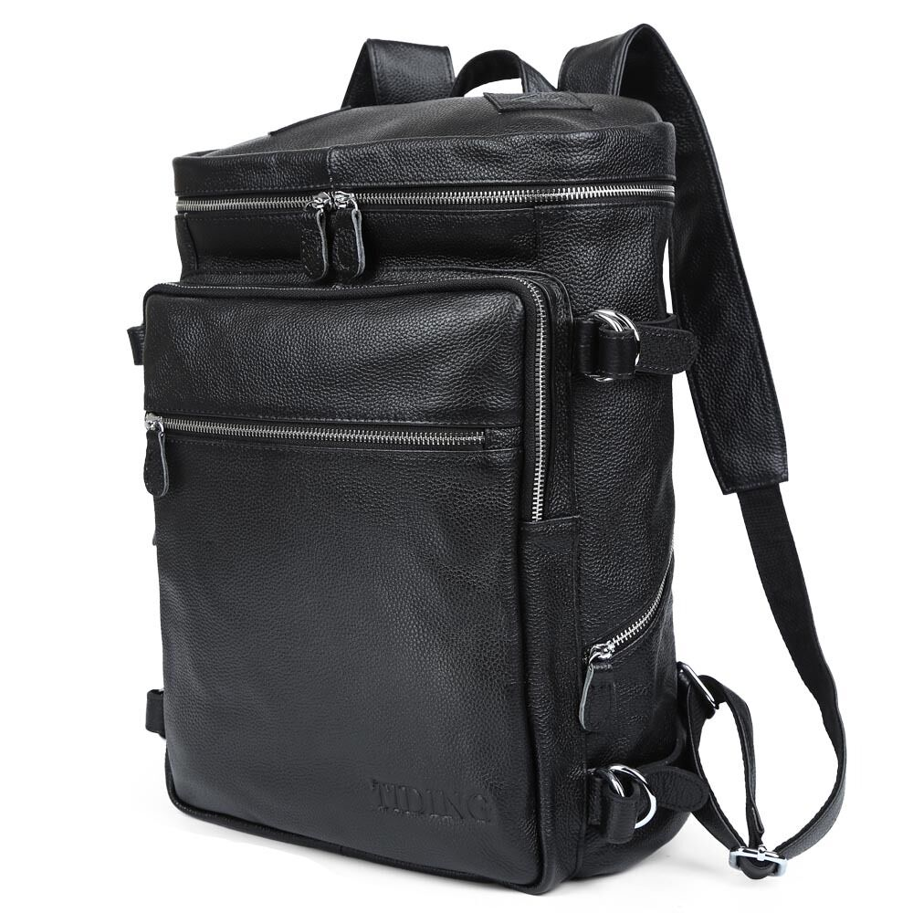 herren real leder aktentasche umh ngetasche rucksack wander tasche reisetasche ebay. Black Bedroom Furniture Sets. Home Design Ideas