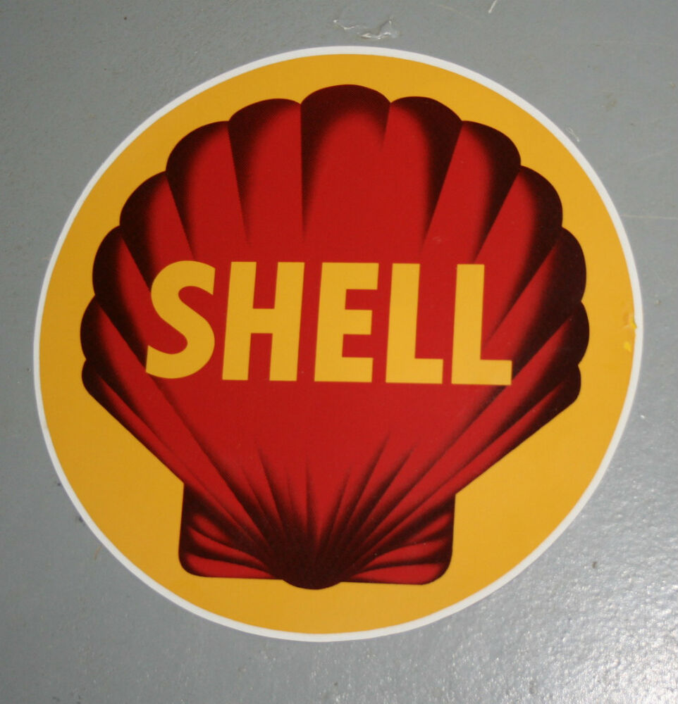 Early Style Shell Self Adhesive Vinyl Decal Gilbarco