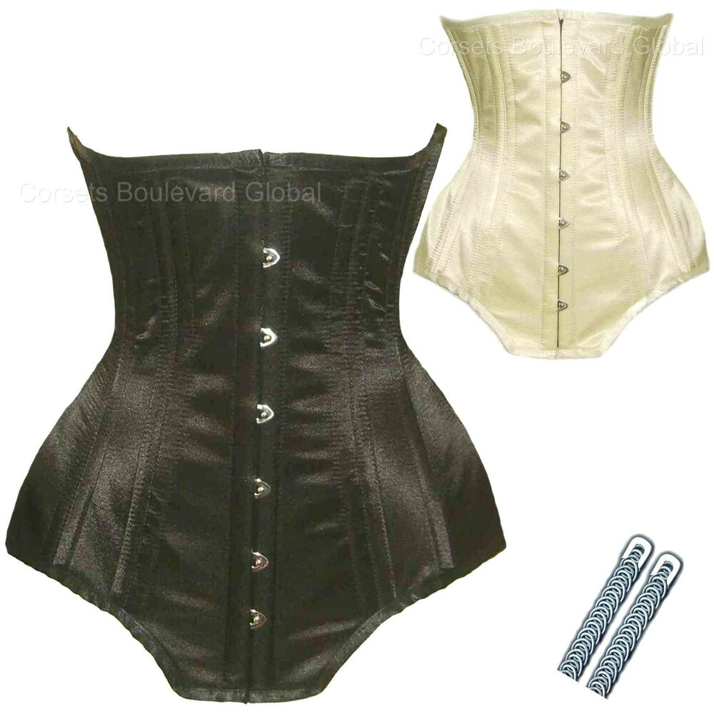 Authentic steel boned corset strong basque sexy tight for Steel boned corset wedding dress