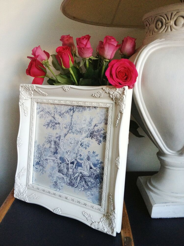 shabby chic ornate picture photo frame antique vintage style wooden ebay. Black Bedroom Furniture Sets. Home Design Ideas