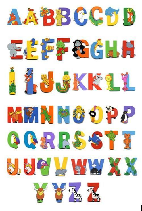 Alphabet Letters Wooden Wall