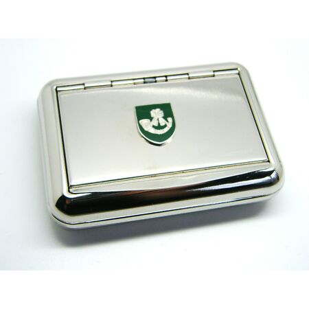img-THE LIGHT INFANTRY ARMY BADGE CASE METAL CHROME PLATED TOBACCO TIN TABACO BOX
