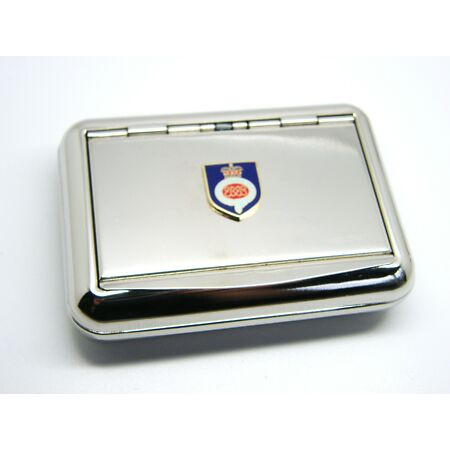img-THE GRENADIER GUARDS ARMY BADGE METAL CHROME PLATED TOBACCO TIN BOX MILITARY