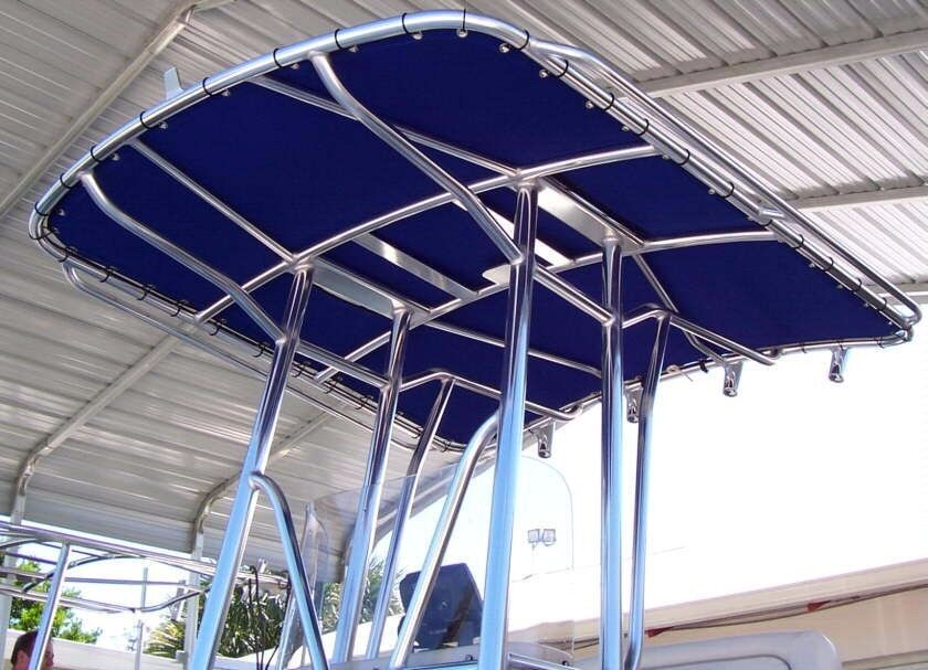 Custom made t top replacement cover sunbrella canvas canopy covers for boat ebay - Canvas canopy ...