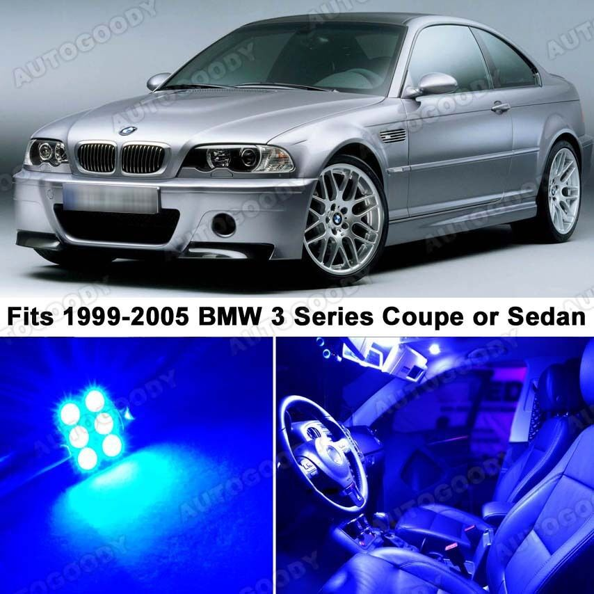 Bmwfort Package 3 Series: 14 X Premium Blue LED Lights Interior Package Upgrade For