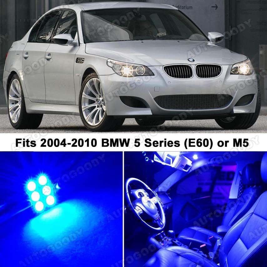 15 x premium blue led lights interior package upgrade for bmw 5 series ebay for Led car interior lights ebay
