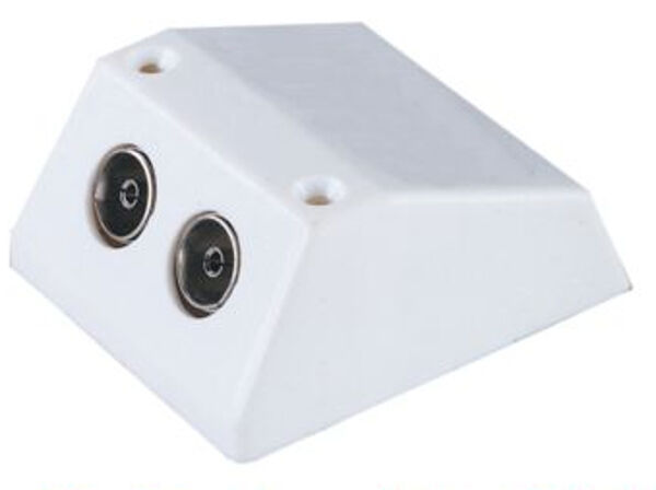 Coaxial Wall Mount : Socket surface mounted tv fm aerial coaxial wall