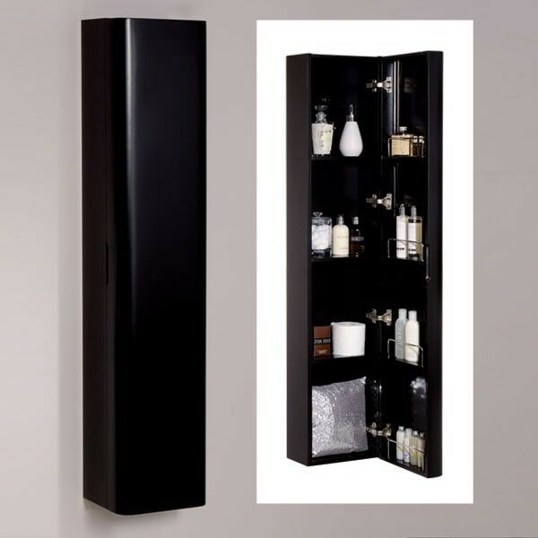 modern 1500mm black shelf wall mounted bathroom cabinet storage unit