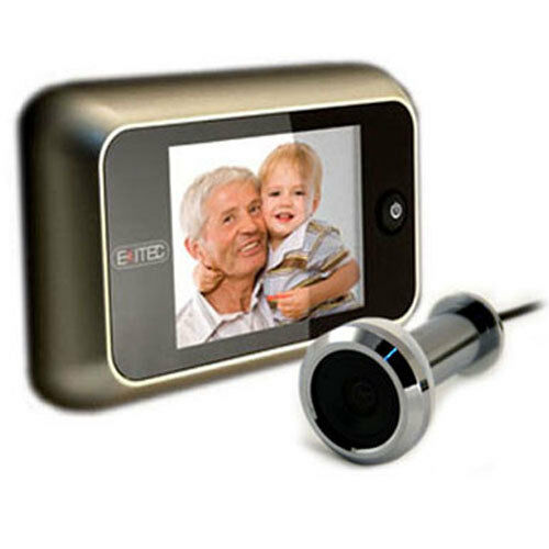 Exitec digital door viewer camera various finishes for Door viewer camera