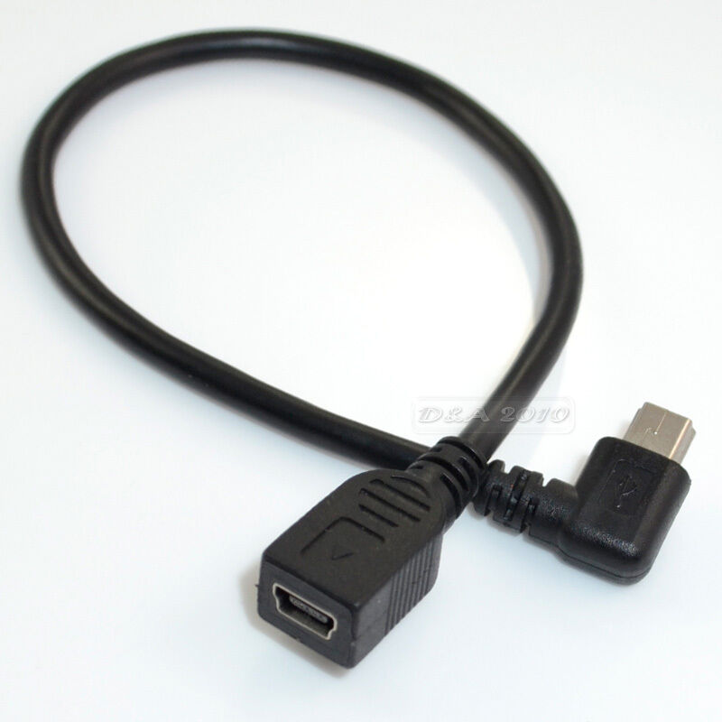 mini usb 5 pin female male right angle extension cable ebay. Black Bedroom Furniture Sets. Home Design Ideas