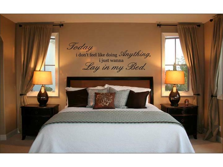 LAY IN MY BED Bruno Mars Lazy Song Wall Decal Words