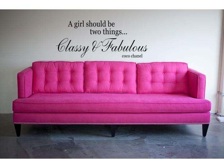 Classy Amp Fabulous Coco Chanel Wall Decal Lettering Quote Stencil Sticker 24 Quot Ebay