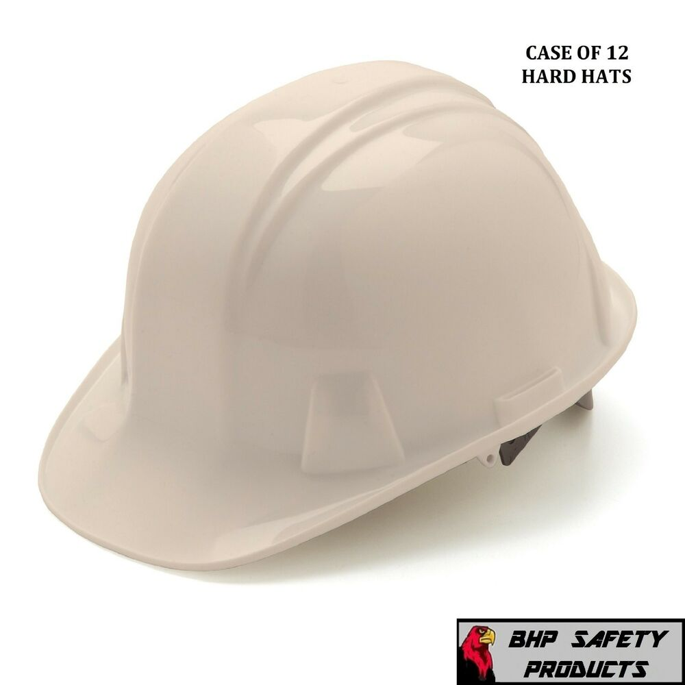 pyramex cap style safety hard hat white 4 point ratchet suspension 12 hats ebay. Black Bedroom Furniture Sets. Home Design Ideas