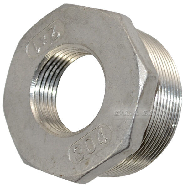 Quot male female stainless steel threaded reducer