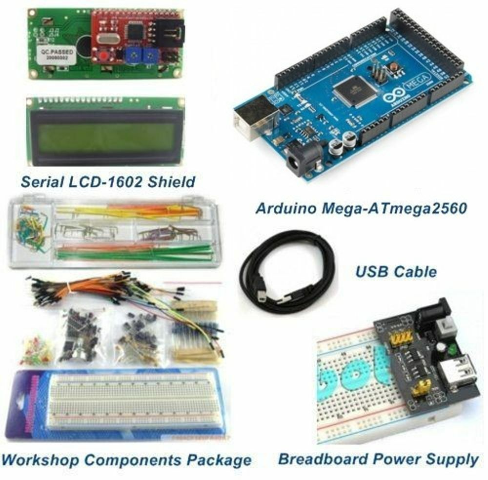 Mega starter package kits with lcd shield module
