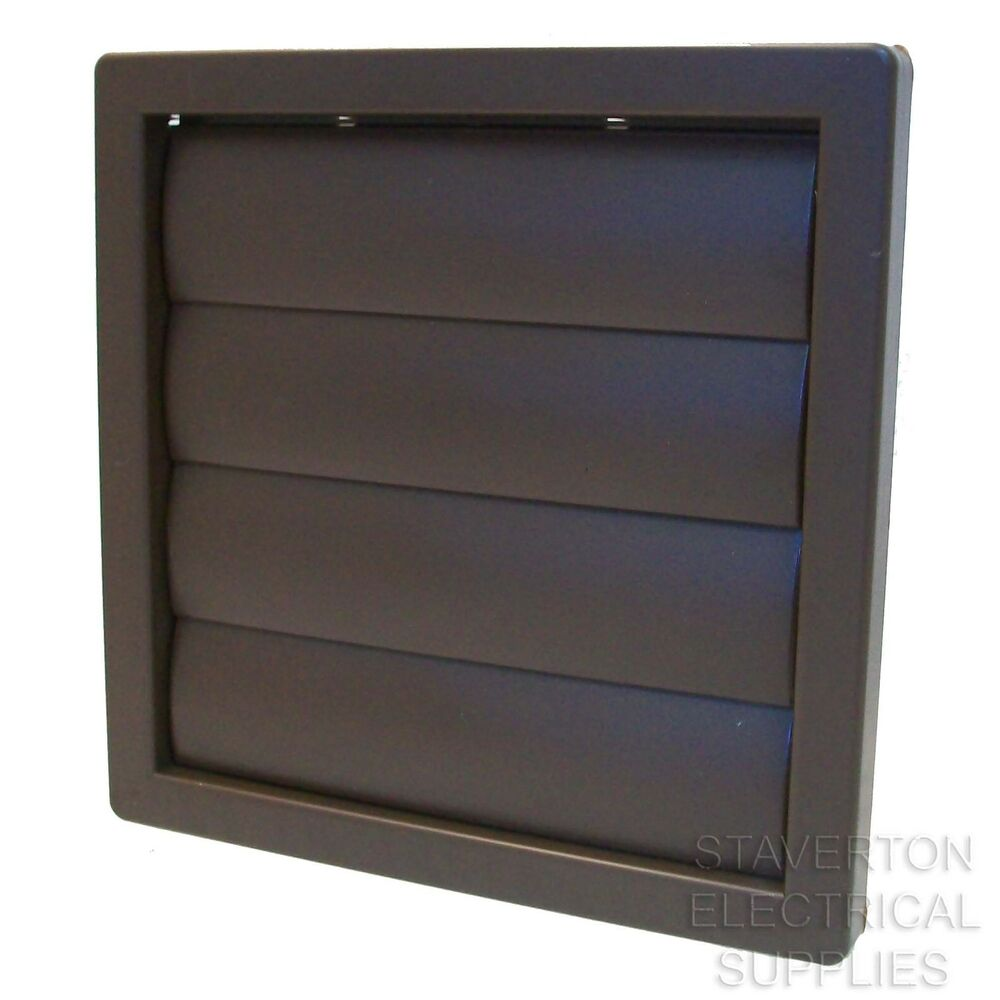 Brown square 160mm x 160mm 5quot 120mm gravity flap grill for Furniture covers air vent