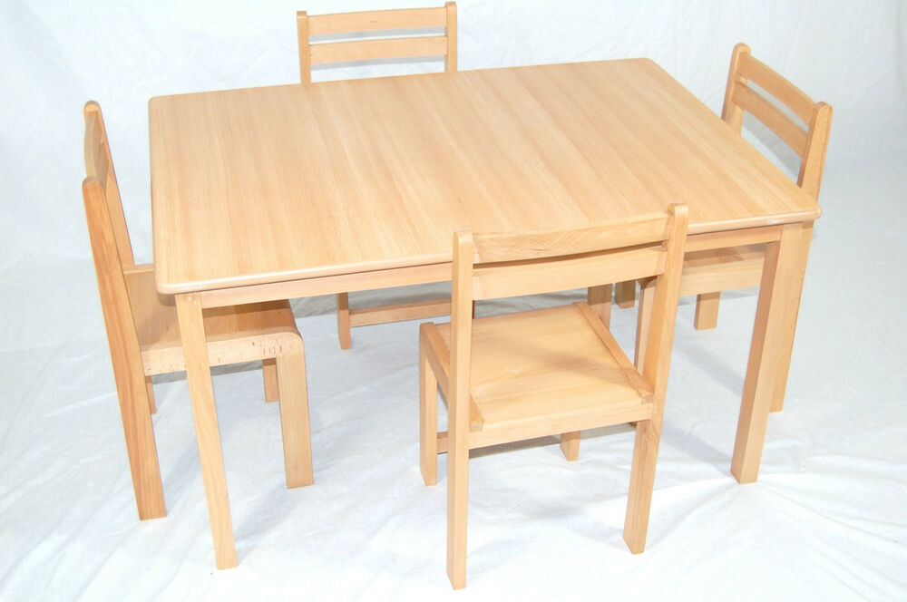 Kids wooden table and chairs classroom chairs classroom tables school furniture ebay Wooden childrens furniture