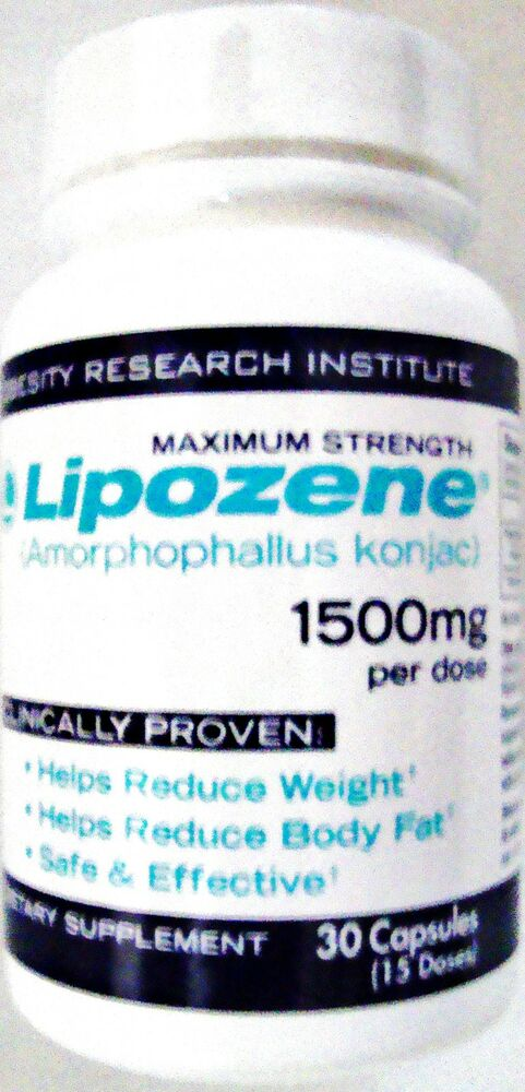 Lipozene Diet/Weight Loss Pills- Maximum Strength Proven ...