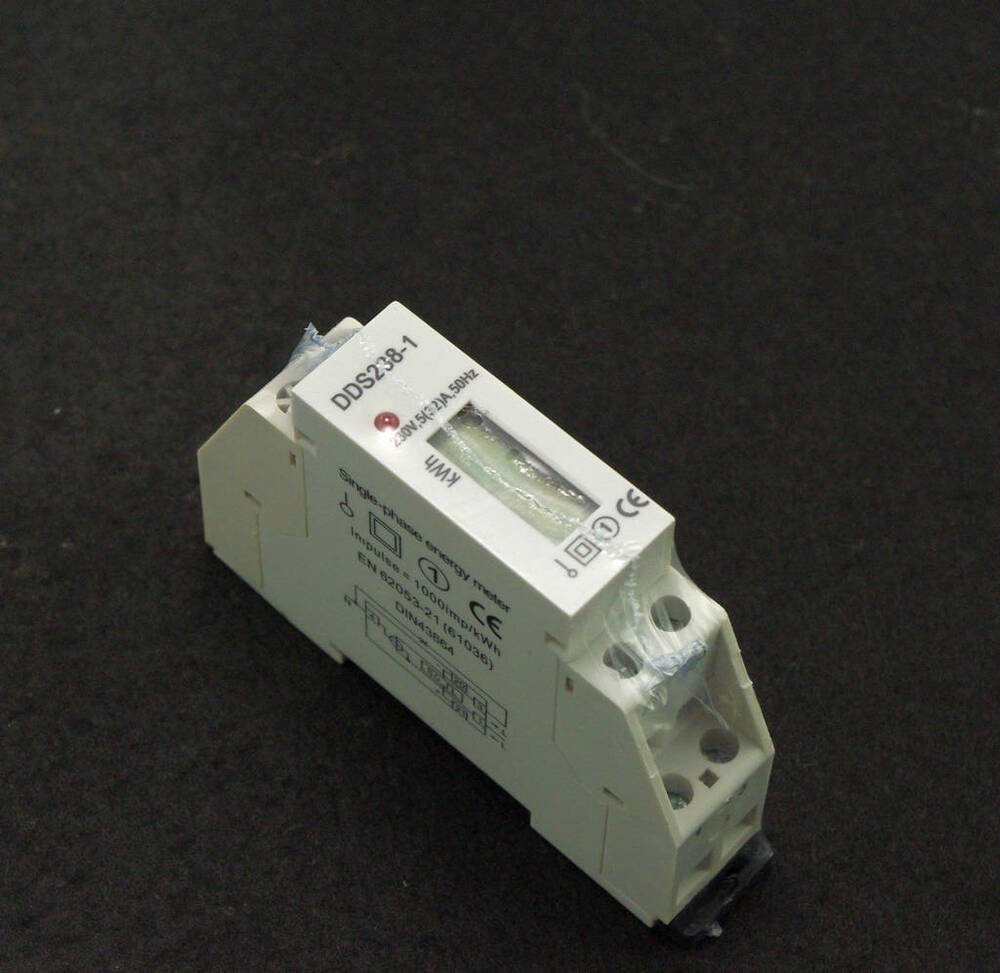 5 32a 220vac din rail kilowatt hour kwh meter 50hz ebay. Black Bedroom Furniture Sets. Home Design Ideas