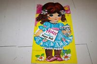 1972 SAALFIELD  UNCUT PAPER DOLL BOOK -  HOLLY COSTUME PAPER DOLL