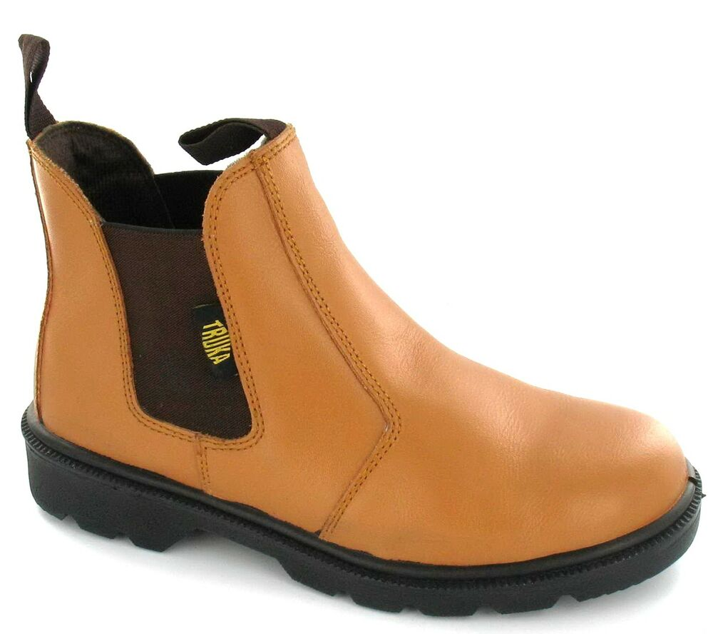mens truka steel toe cap slip on boots dealer 1 ebay