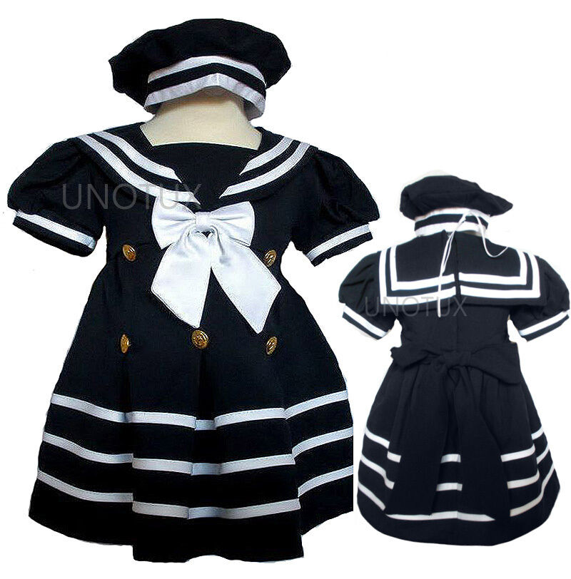 Toddler formal sailor party dress outfits s m l xl 2t 3t navy ebay