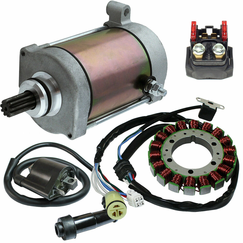 Stator starter solenoid ignition coil fits yamaha grizzly for Yamaha rhino alternator