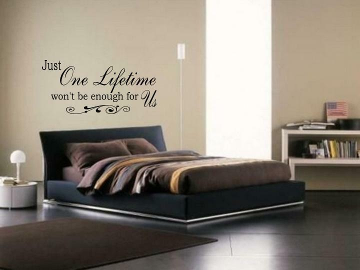 JUST ONE LIFETIME Wall Art Vinyl Decal Bedroom Lettering
