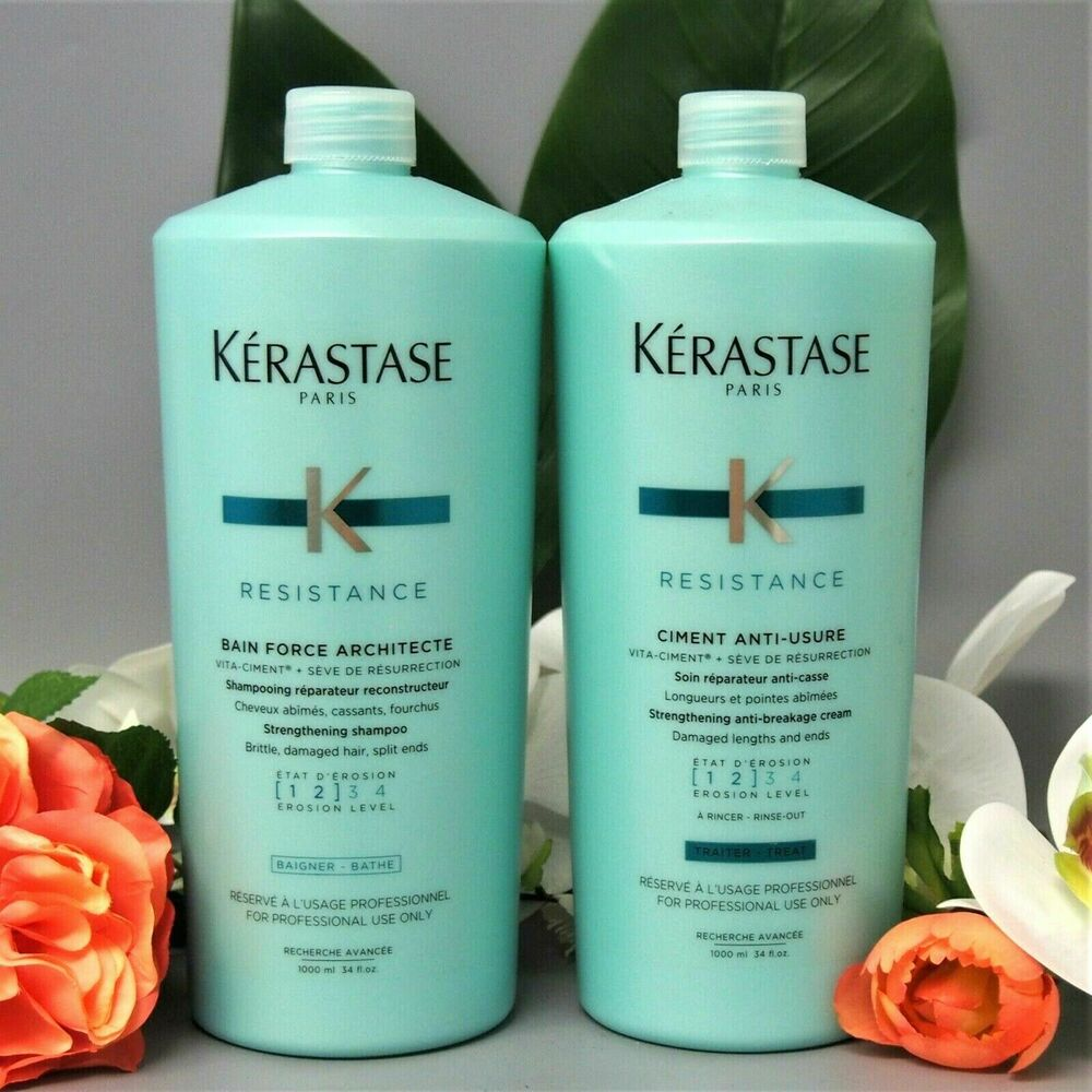 Kerastase resistance ciment anti usure and bain force for Bain miroir 1 kerastase
