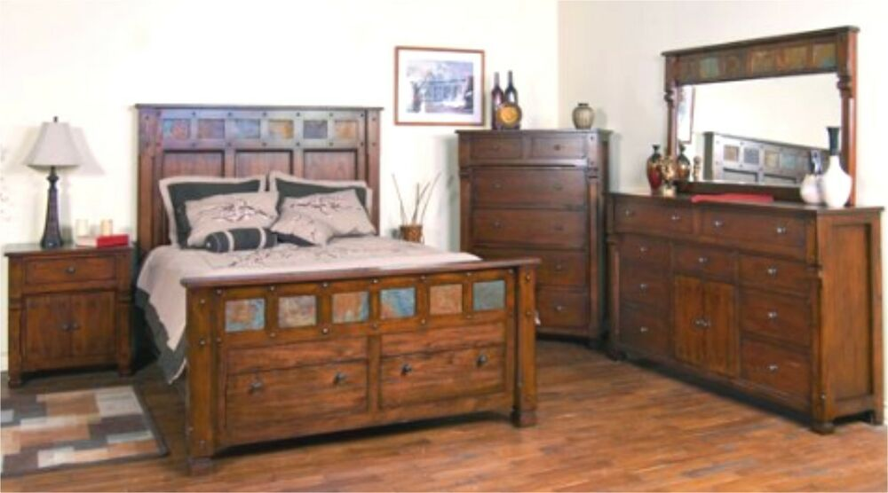 SOLID DARK OAK Bedroom Set Free Delivery 48 States EBay