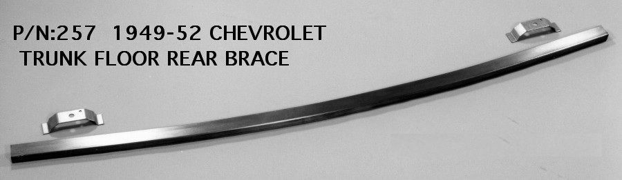 Chevrolet chevy rear trunk floor brace 1949 1952 257 ems for 1950 chevy floor pans